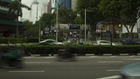 Timelapse Orchard Road intersection stock footage
