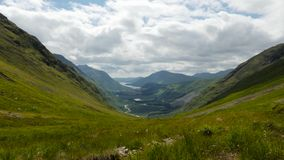 Timelapse over glen etive stock footage