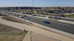 Timelapse over I25 in noordelijk Denver stock videobeelden