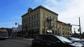 Timelapse på konungen och Erb gator i Waterloo, Kanada 4K lager videofilmer