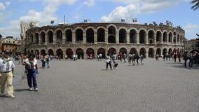 Timelapse på Verona Arena, Italien lager videofilmer