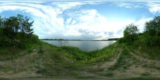 timelapse panoramique 4k de lac de 360 vr clips vidéos