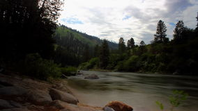 Timelapse of the Payette River, Idaho stock footage