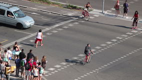 Timelapse of pedestrians in Barcelona stock video