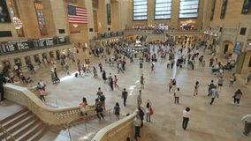 Timelapse of people in Grand Central Station in Manhattan, New York. Timelapse of travelers hurrying through Grand Central Station in Manhattan, New York City stock video footage