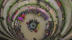 Timelapse of people playing in a games gallery stock footage