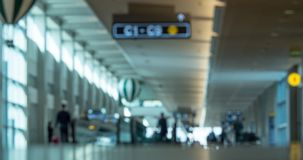 Timelapse of people traffic in the airport hall stock footage
