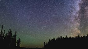 Timelapse during perseid meteor shower stock video footage