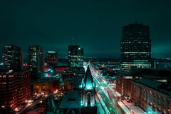 Timelapse Photo of City during Nighttime Royalty Free Stock Images