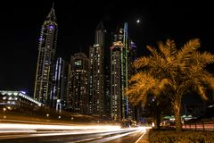 Timelapse Photo of High Rise Concrete Buildings Stock Images
