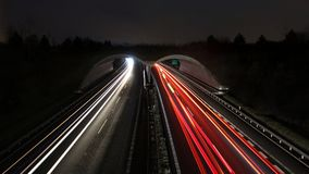 Timelapse Photograph of Highway royalty free stock image