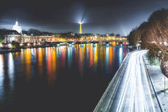 Timelapse Photography of City at Nighttime Royalty Free Stock Photo