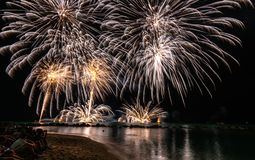 Timelapse Photography of Fireworks at Night