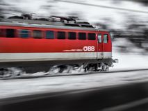Timelapse Photography of Red Train Royalty Free Stock Photos