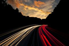 Timelapse Photography of Road With White and Red Lights Stock Photo