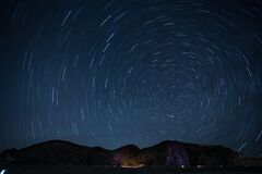 Timelapse Photography of Stars at Night Stock Image