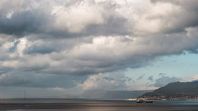 Timelapse of the Port of Messina in Sicily stock footage