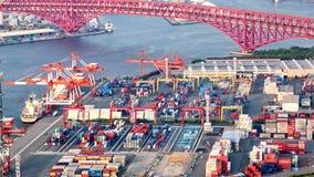 Timelapse of the port of Osaka, 4K stock footage