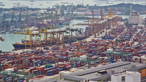 Timelapse of the port of Singapore stock video