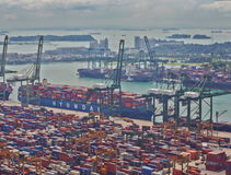 Timelapse of the port of Singapore, 4K stock video