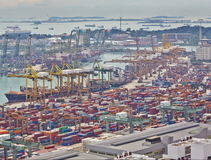 Timelapse of the port of Singapore, 4K stock video footage