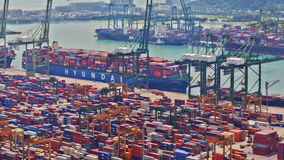 Timelapse of the port of Singapore, UHD 4K stock video footage