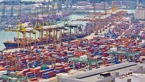 Timelapse port Singapur zbiory
