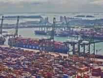 Timelapse port Singapur, 4K zbiory wideo