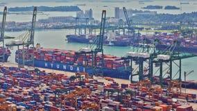 Timelapse port Singapur, UHD 4K zbiory