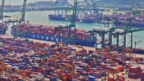 Timelapse port Singapur, UHD 4K zdjęcie wideo