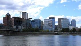 Timelapse Portland, Oregon miasto nad Willamette rzeką 4K zbiory
