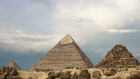 Timelapse. Pyramids and clouds. Cairo. Egypt. stock video