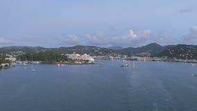 Timelapse que deja St Lucia Castries del puerto almacen de metraje de vídeo