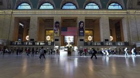 Grand Central Station in New York City. A timelapse recording of passengers travelling through Grand Central Station in New York City hd, 25fps stock video