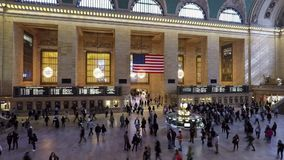 Grand Central Station in New York City. A timelapse recording of passengers travelling through Grand Central Station in New York City hd, 25fps stock video footage