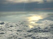 Timelapse reflexivo del sol del paisaje de la nube almacen de metraje de vídeo
