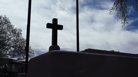(Timelapse) Religious Christian Cross Clouds stock video footage