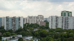 Timelapse of residential area with clouds in the Royalty Free Stock Image