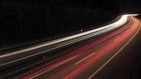 Timelapse ruch drogowy na autostradzie zbiory