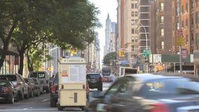 Timelapse ruch drogowy na Broadway zbiory