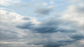 Timelapse of running clouds stock footage