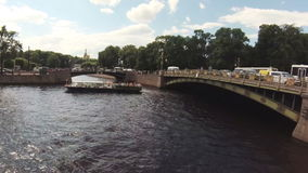 Timelapse Russia St. Petersburg canals and river ships summer. Timelapse Russia St. Petersburg canals river ships summer stock video