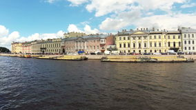 Timelapse Russia St. Petersburg canals and river ships summer. Timelapse Russia St. Petersburg canals river ships summer stock footage