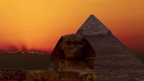 Timelapse Salida del sol sobre la pirámide de Cheops y de la esfinge Giza Egypt V 2 almacen de metraje de vídeo