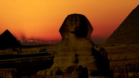 Timelapse Salida del sol sobre la pirámide de Cheops y de la esfinge Giza Egypt V 5