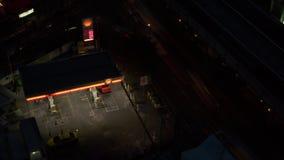Timelapse samochody tankuje przy Shell stacją w Bangkok zdjęcie wideo