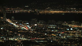 Timelapse of San Francisco Bay at Night stock footage