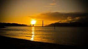 Timelapse San Francisco Golden Gate Bridge Sunset filme