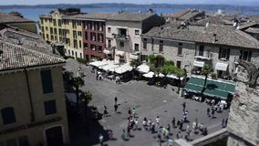 Timelapse at Scaliger Bridge, Sirmione, Italy stock video