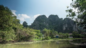 Timelapse of scenic view of river in Vietnam stock video